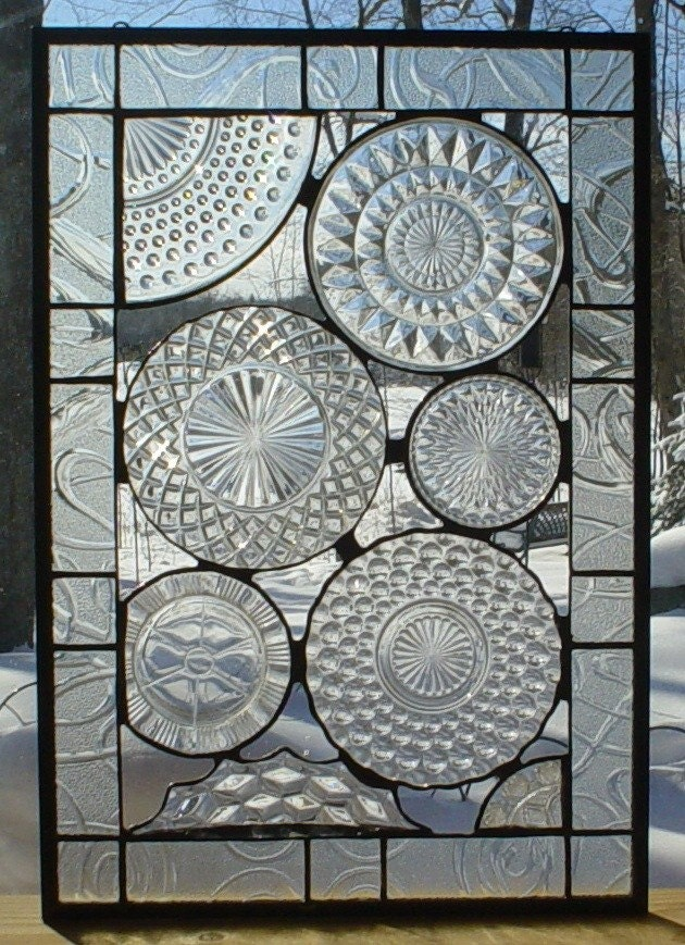 Vintage Crystal Plate panel