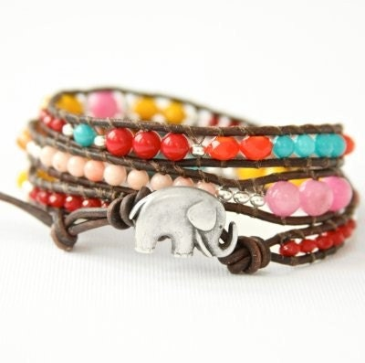 Sundance Good Luck Elephant Wrap Bracelet