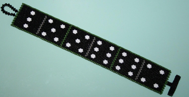 Oh Domino Peyote Stitch Cuff Bracelet