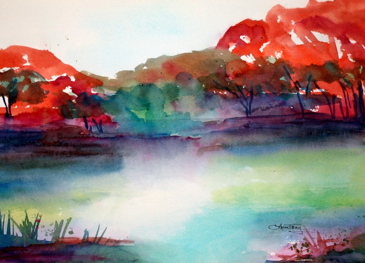 Mystic River - Fine Art Watercolor