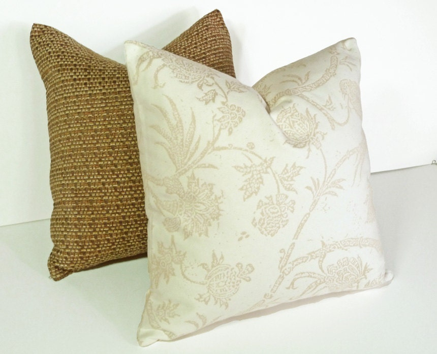 True Modern Pillows : Contemporary Cream Pillows Throw Pillow Cover by PillowThrowDecor