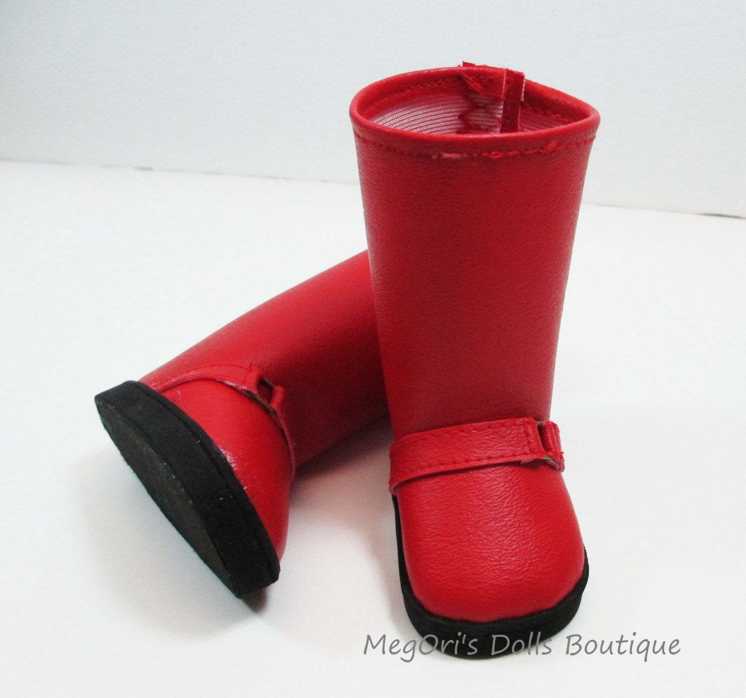 """American girl dolls 18"""" dolls boots red"""
