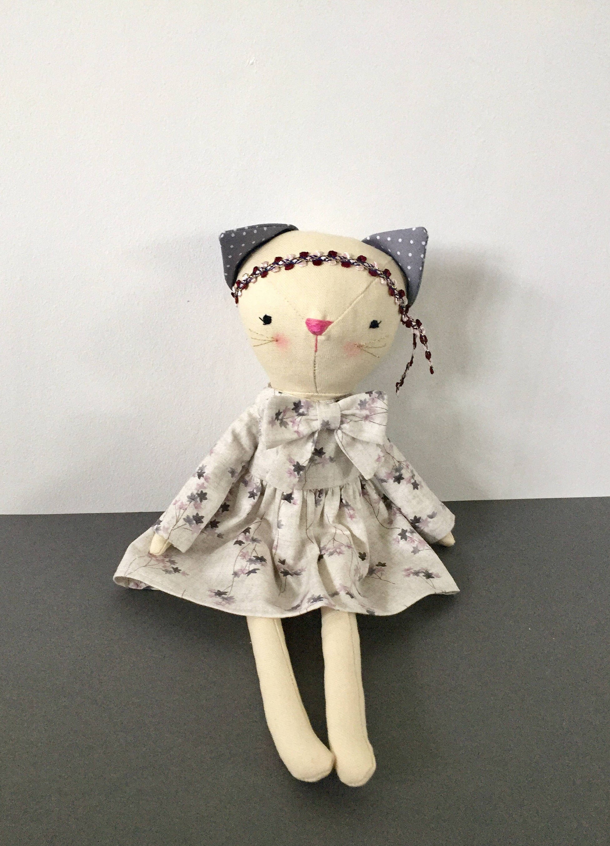 Cat doll 13.5 Cat dollKittyCotton cat Dress up  doll