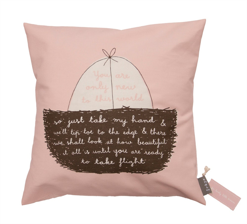 New To This World (Pink) - Cushion - FreyaArt