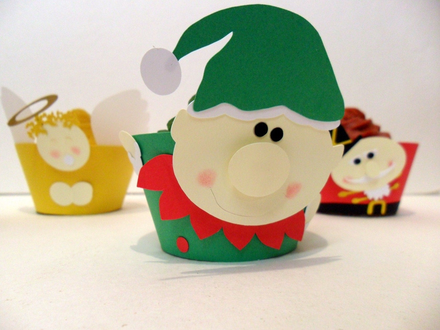 Elf Cupcake Wrappers  - Pick Your Colours - Set of 12