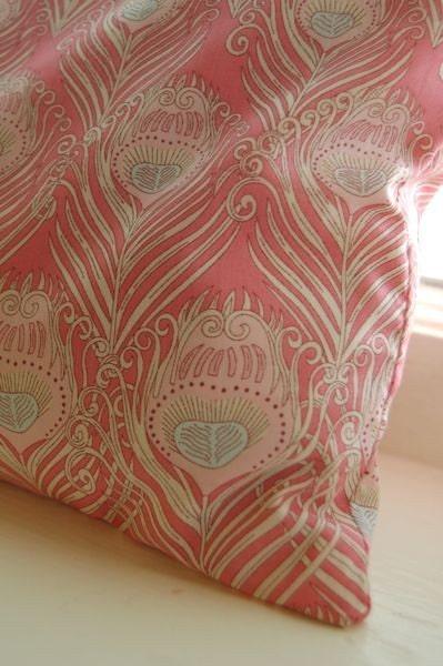Liberty of London Pillow -- Pink Peacock