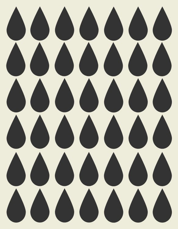 Raindrops Pattern Print - 8x10