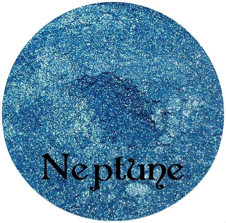NEPTUNE Shimmery Blue Mineral Eyeshadow Pigment Spectrum Cosmetics 3 Gram Sifter Jar