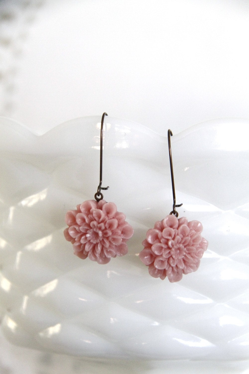 Pretty Pink Mum Earrings