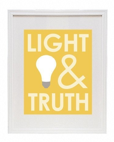 Light and Truth 8 x 10 Modern Print