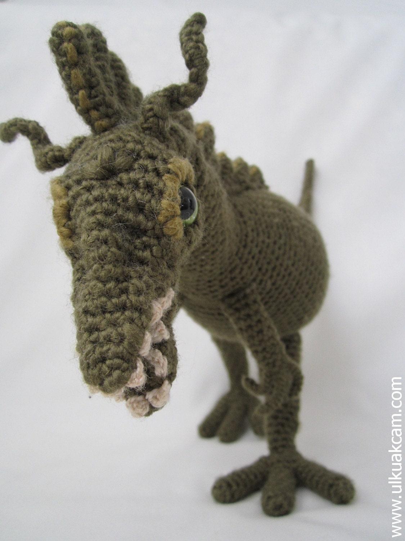 Amigurumi Dinosaur Pattern : Amigurumi Dinosaur Pattern by Denizmum on Etsy
