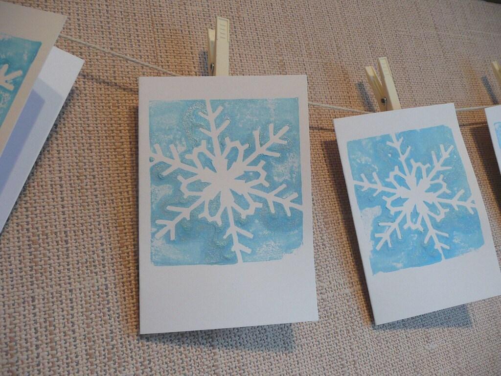 Snowflake Lino Print