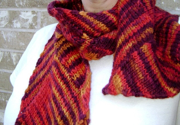 Agnes entrelac scarf knitting pattern by TheFiberFriend on Etsy