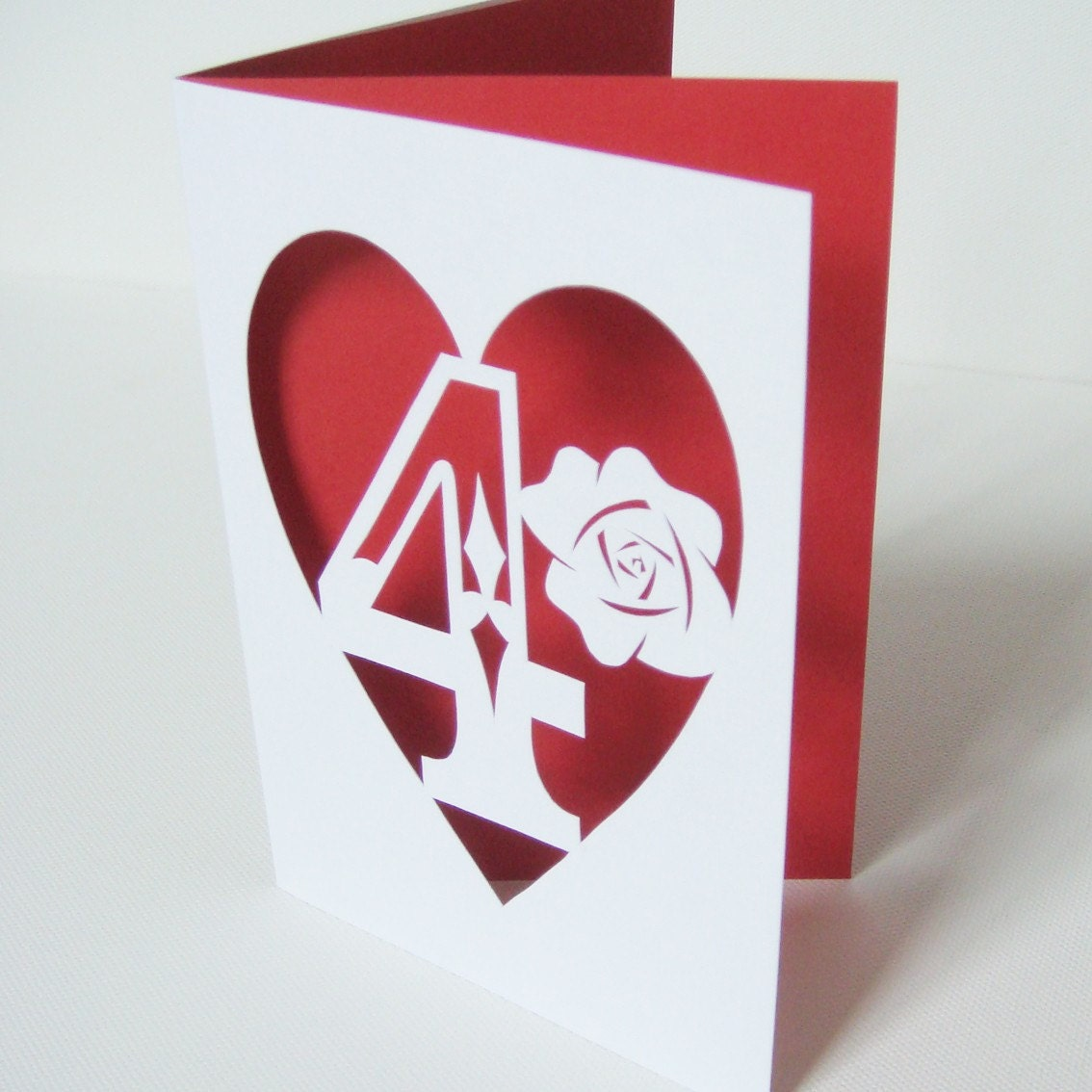 Hand Cut Number Card
