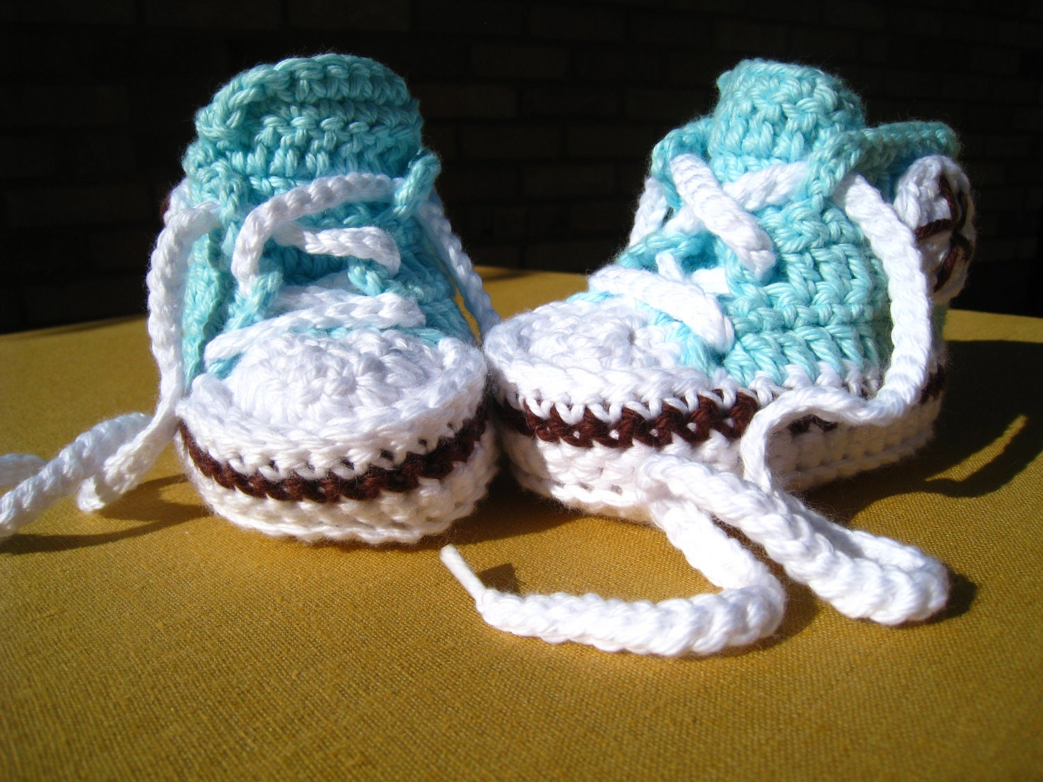 CROCHET PATTERN baby high tops baby sneakers by