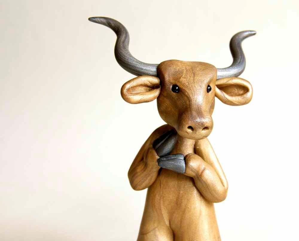 Beloved Bull Figurine by Bonjour Poupette