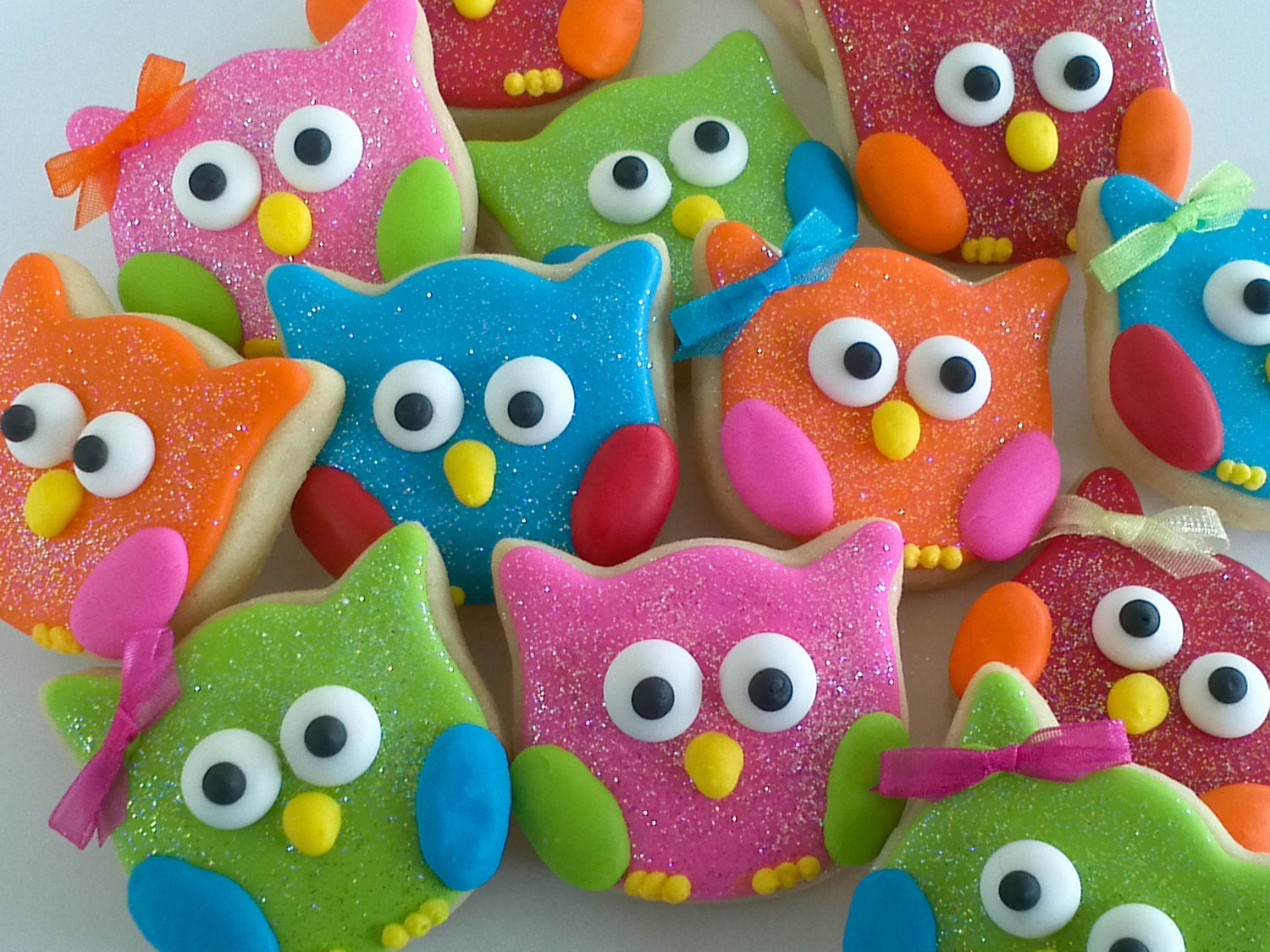 Owl Decorated Cookies Owl Cookies Party Favors 18 Cookies Gift Bagged And Bowed