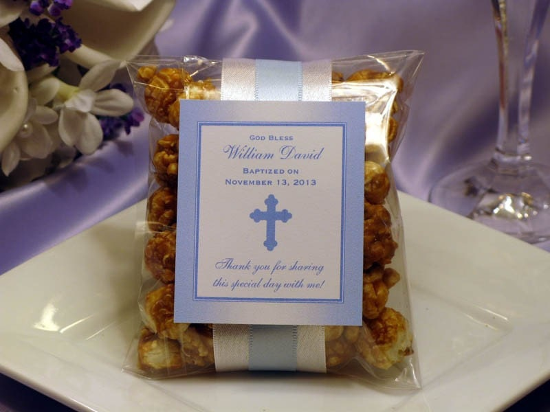 Baptism christening caramel corn favors bible by shadow090109 - Ideas for baptism party favors ...