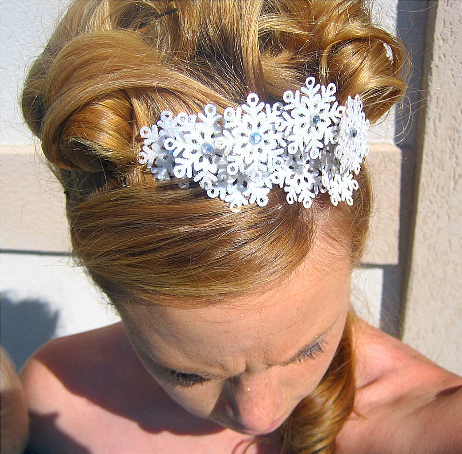 Bridal Snowflake Headband