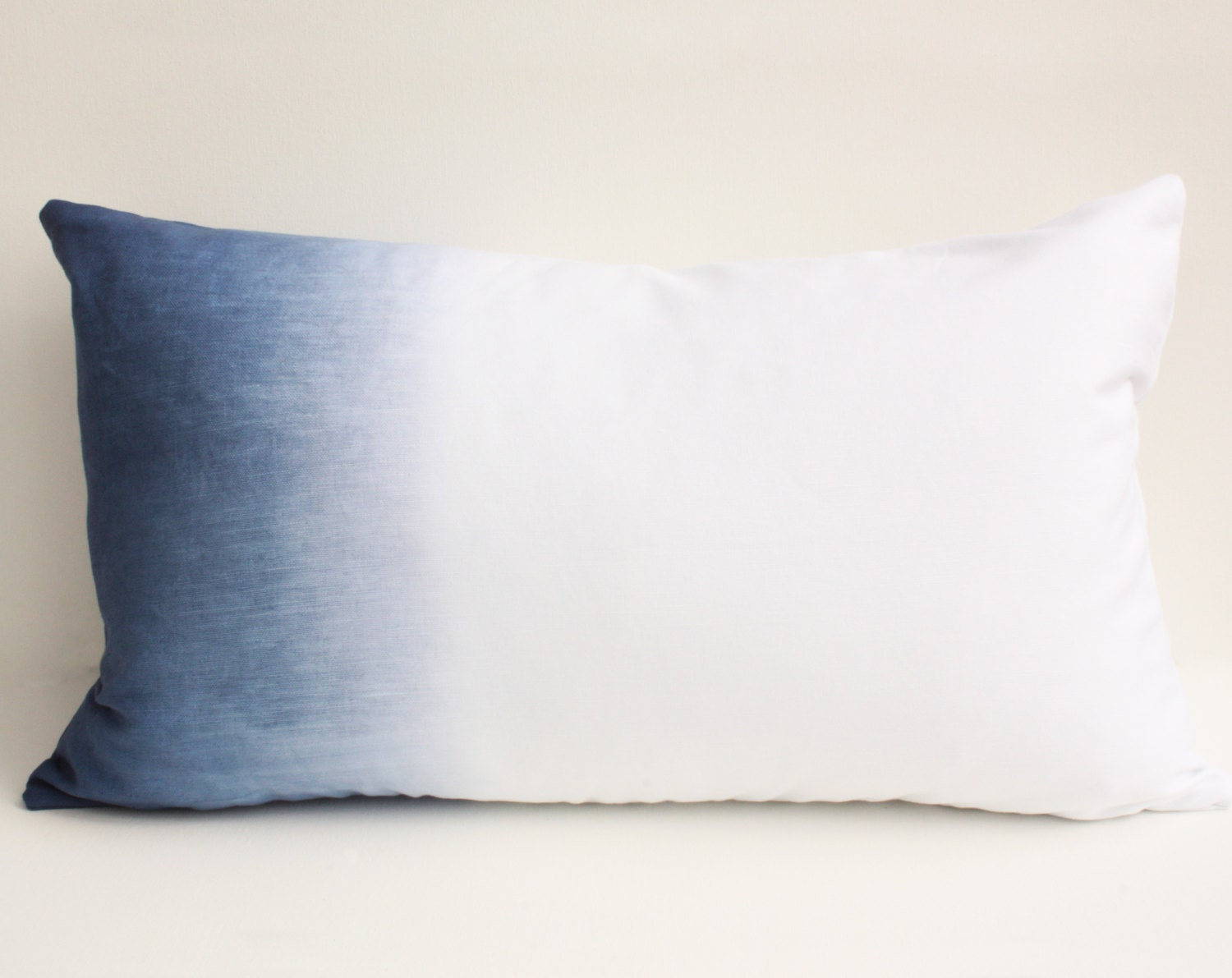 Navy Blue Pillow Cover, Ombre Pillow Cover, Navy Pillow Cover, Gradient Dye Pillow Cover, Ombre Dyed Pillow, Dip Dye Pillow - JustDwell