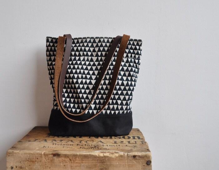 small triangle tote bag