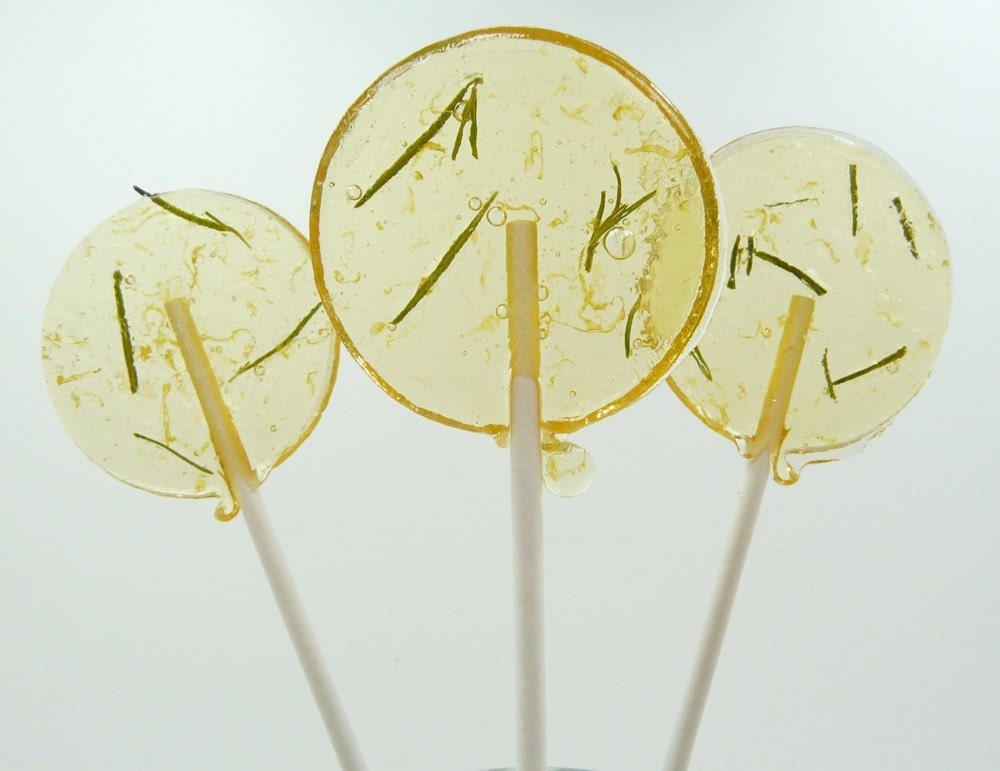 Featured in Real Simple magazine  - Grapefruit Rosemary Lollipop