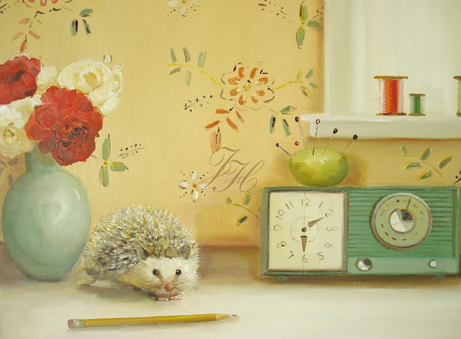 The Hedgehog And The Pincushion- Open Edition Print