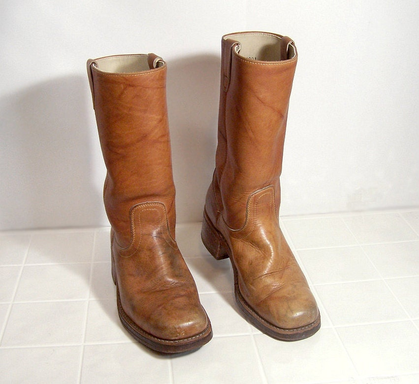 mens leather boots size 10 d vintage 13 by