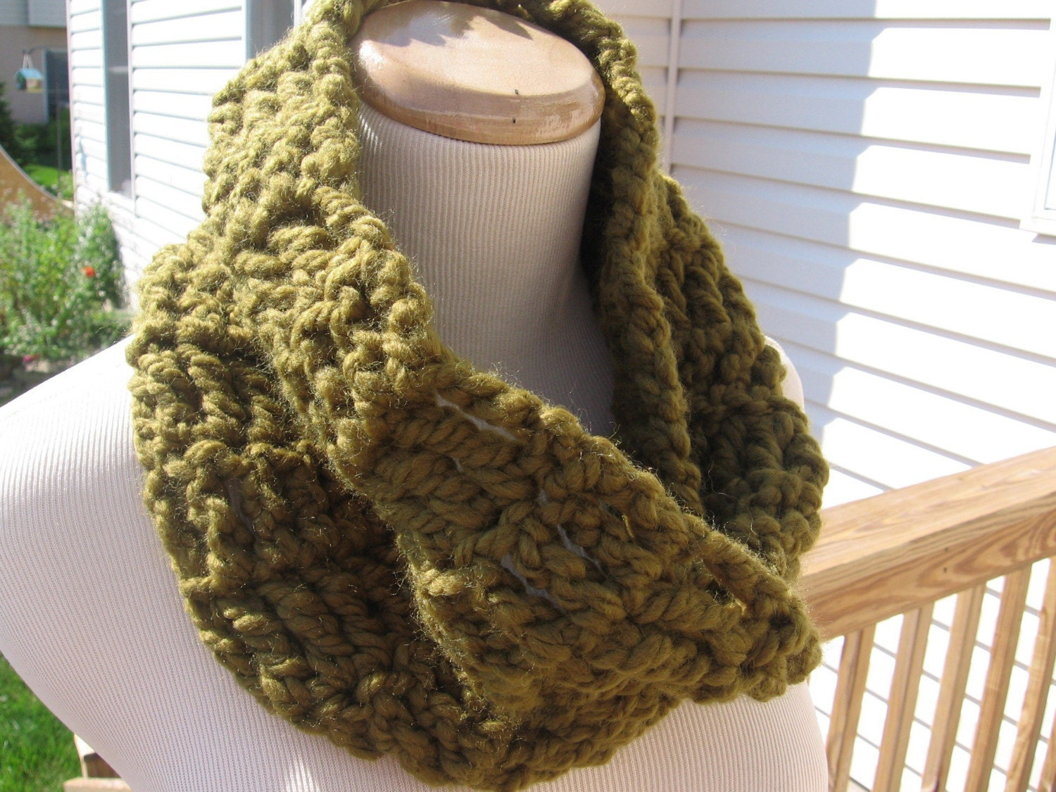 Chunky Moss Cowl reserved for Kristen