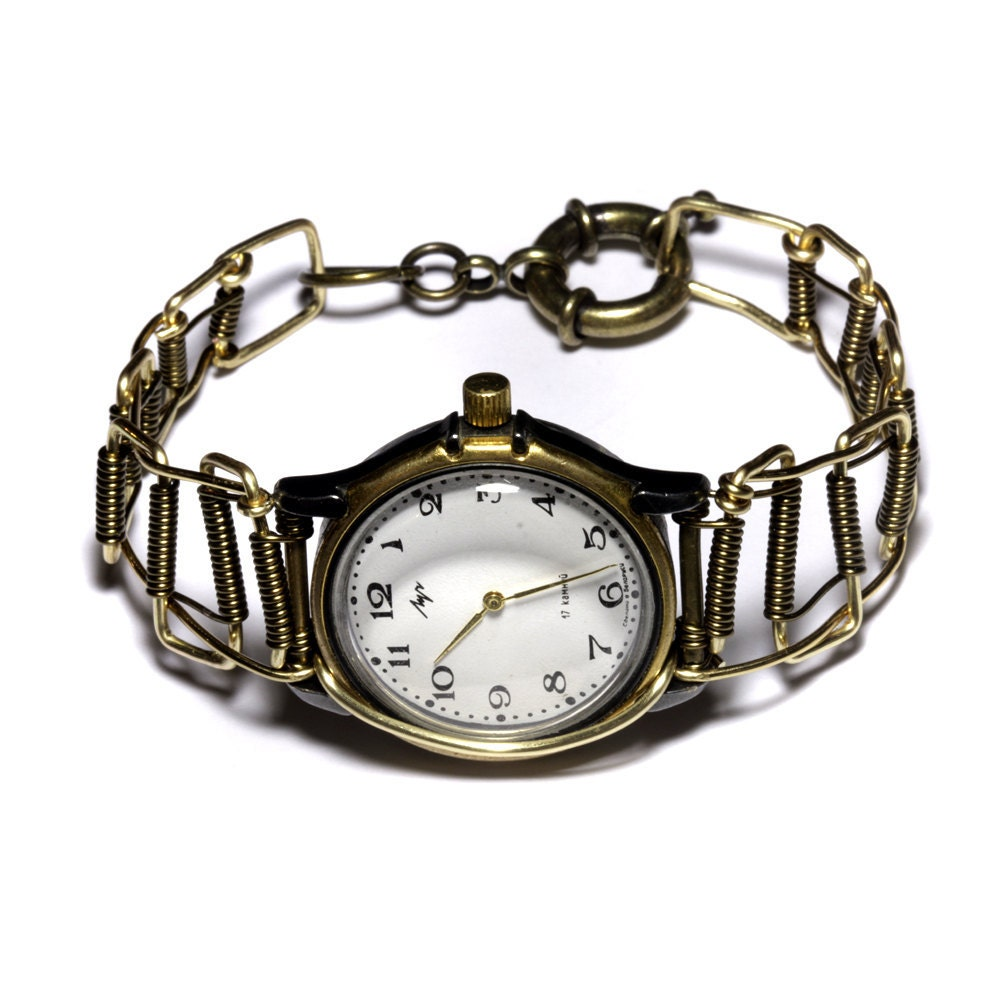 Steampunk Soviet Russian Wristwatch - One of a Kind