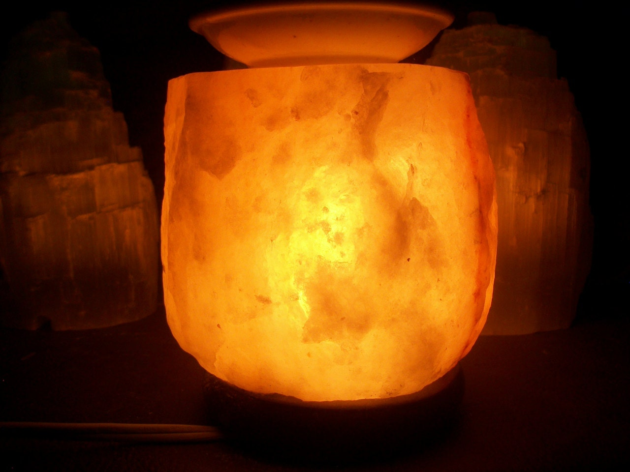 Salt Lamp Essential Oil Diffuser : Himalayan Salt Lamp Aromatherapy Diffuser by WhiteDoveTreasures