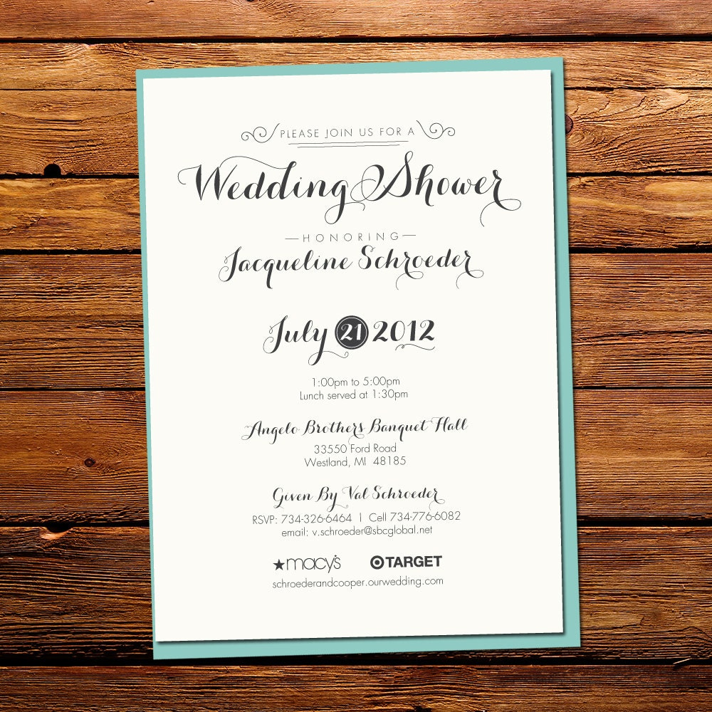 Quirky Wedding Shower Invitation