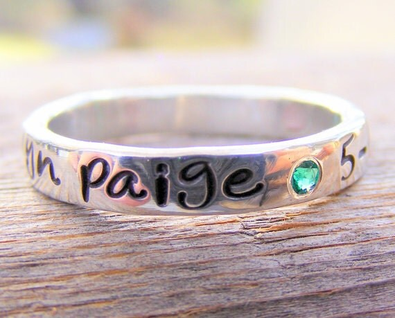 mothers ring personalized birthstone stacking by helenesdreams. Black Bedroom Furniture Sets. Home Design Ideas