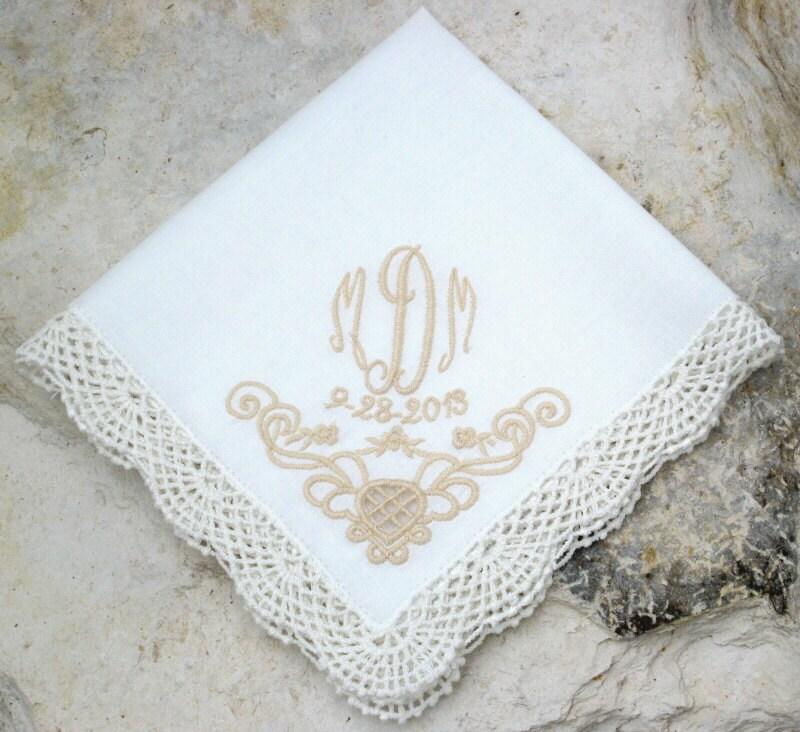 Wedding Handkerchief Bride Groom By FlipFlopsforAllShop On Etsy