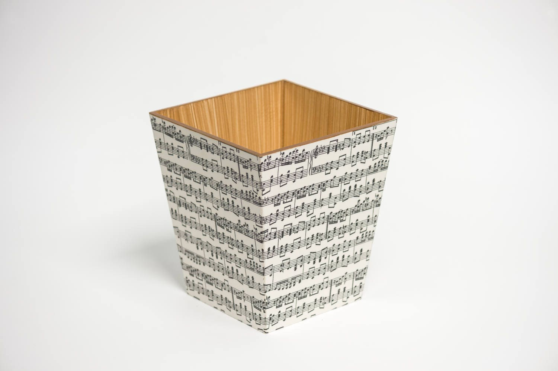 Music  Waste Paper Bin Trash Can Handmade Wooden handmade in UK