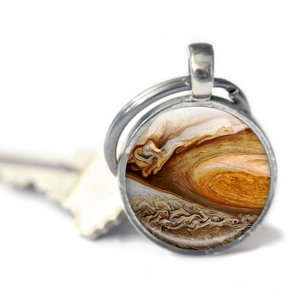 Jupiter keyring  Jupiter Photo Keychain  Planet Jupiter