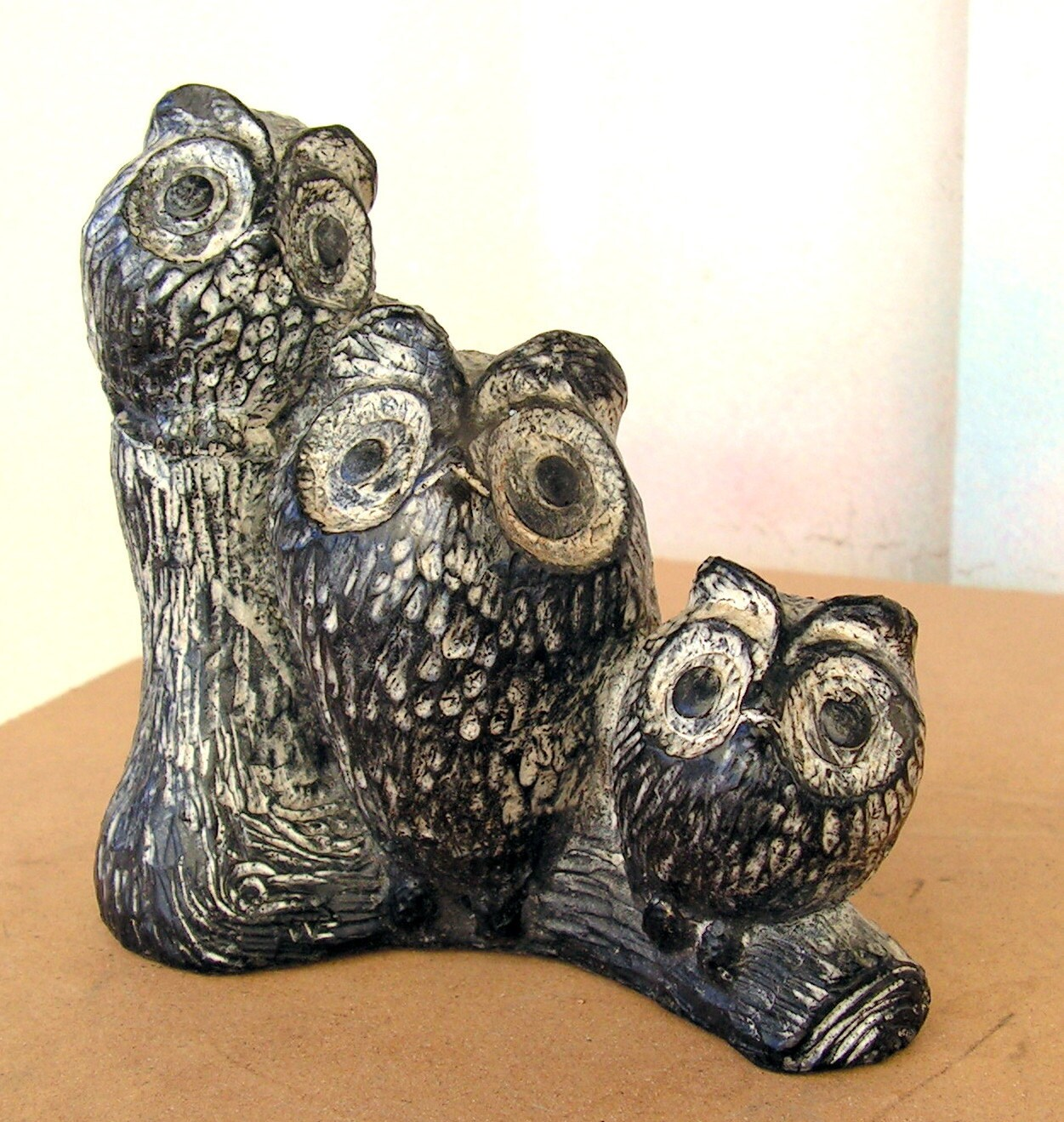 Vintage owl figurine carved soapstone statue by retrosideshow