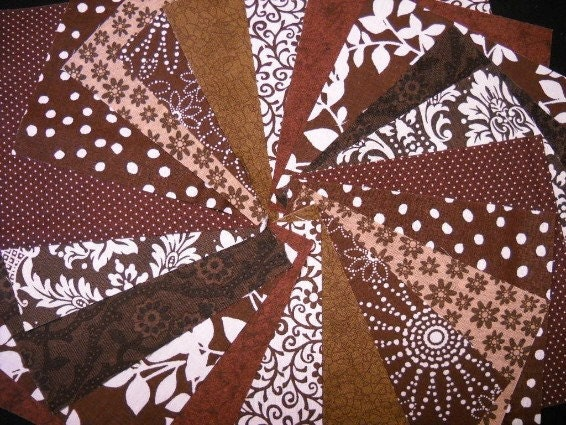 Coffee Brown  Fabric Squares - 5 inch Quilt Squares - SEW FUN QUILTS Time Saver Kit - SEWFUNQUILTS