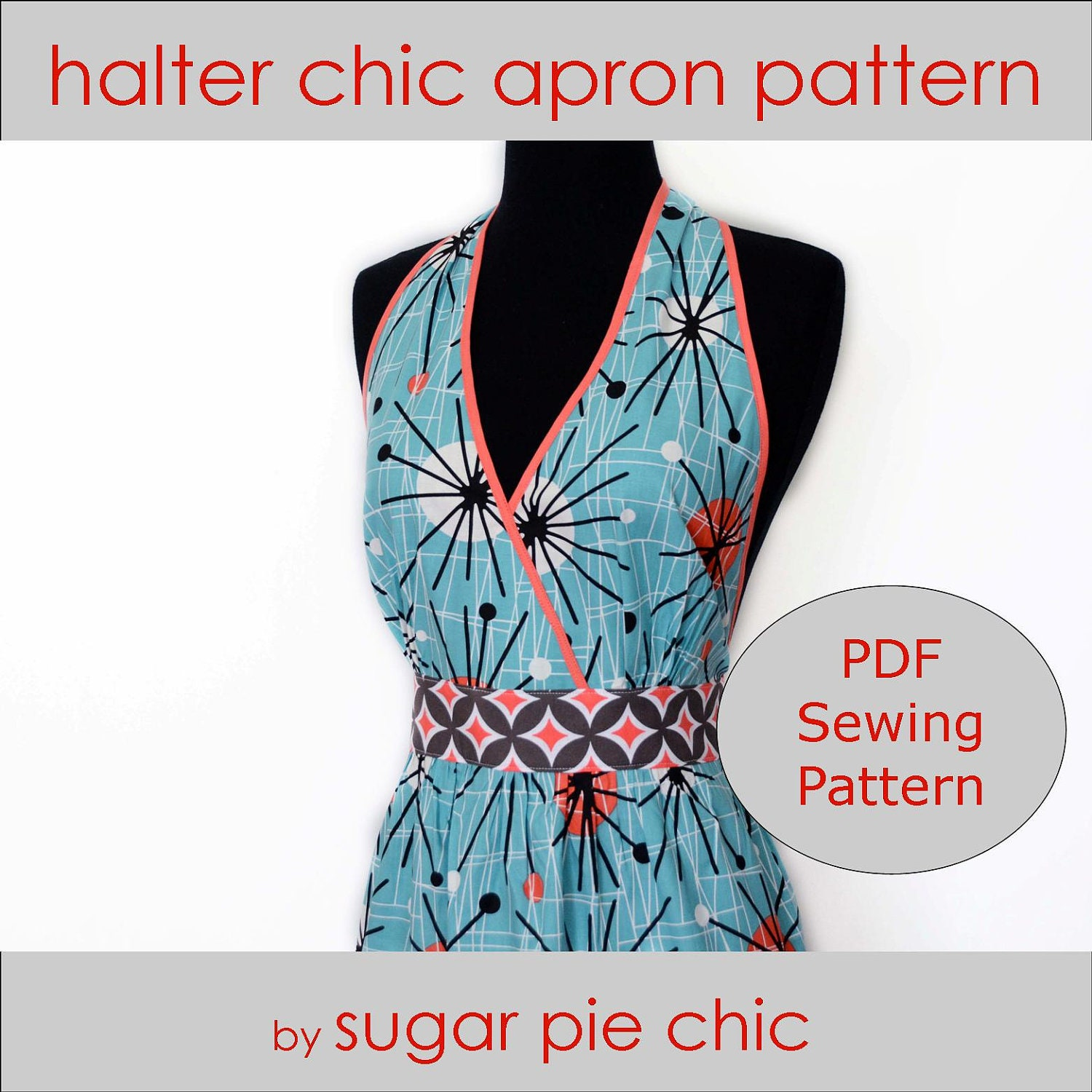 PDF/Downloadable Sewing Patterns by Whimsy Couture: Frilly Apron