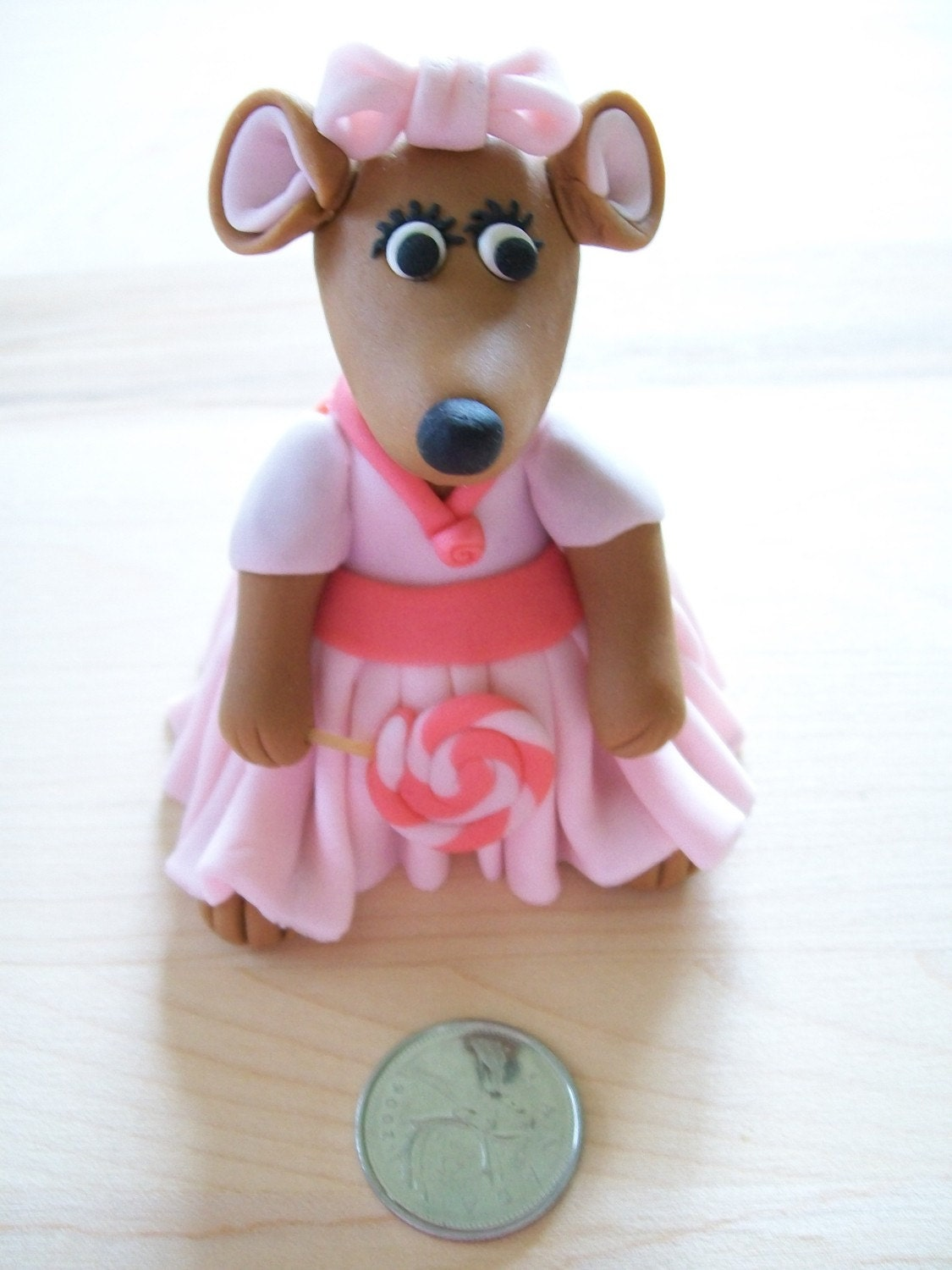 Fondant Girl Mouse Cake Topper. From FondantFads