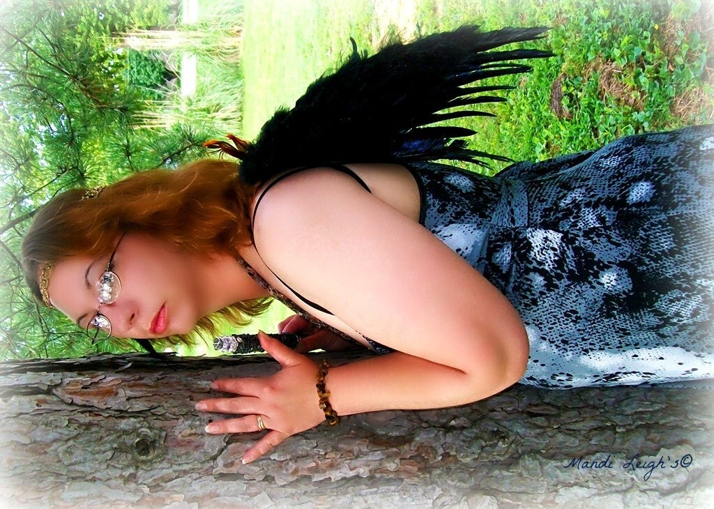 Dark Wings of the Fae for Teens and Adults, Fairy Wings, Woodland, Renaissance, Photography Prop