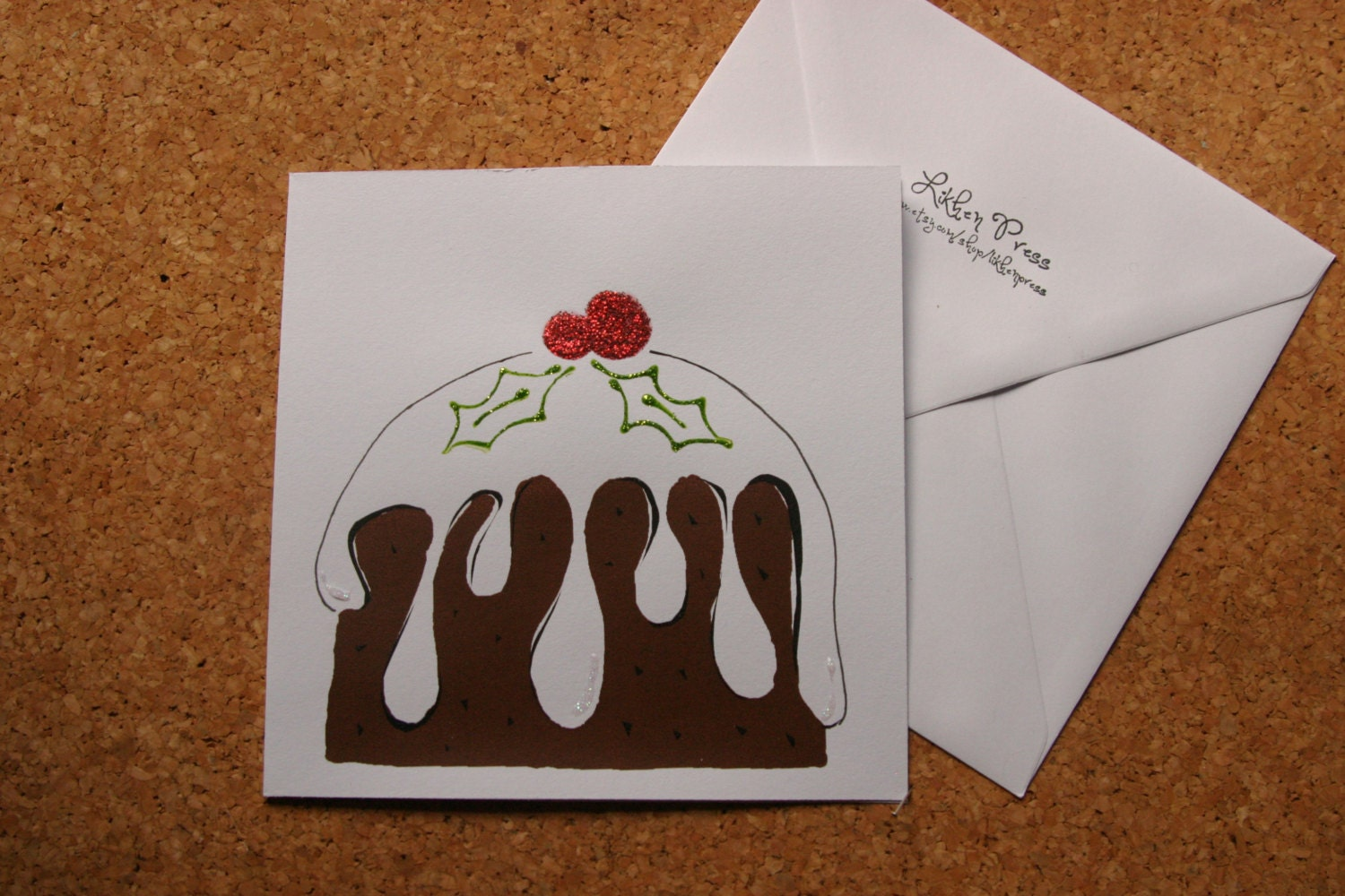 Lovely Christmas Pudding Card - LikhenPress