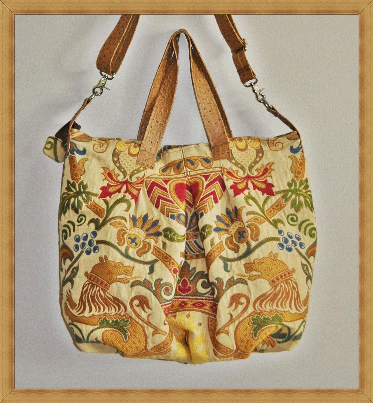 TOOTLES چمدان کوچک سفری کیف -- سنگین بریتانیا پارچه ابریشمی گل برجسته پارچه طراح -- -- -- (آماده به کشتی)