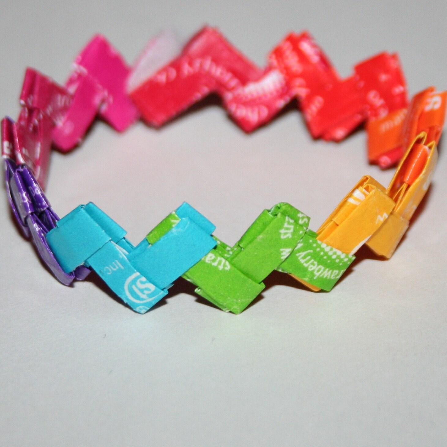 rainbow starburst bracelet by eclectickel on etsy