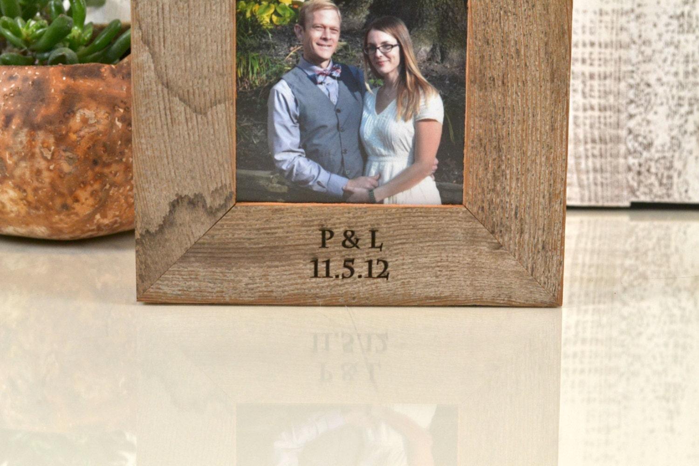 Engravable picture frames