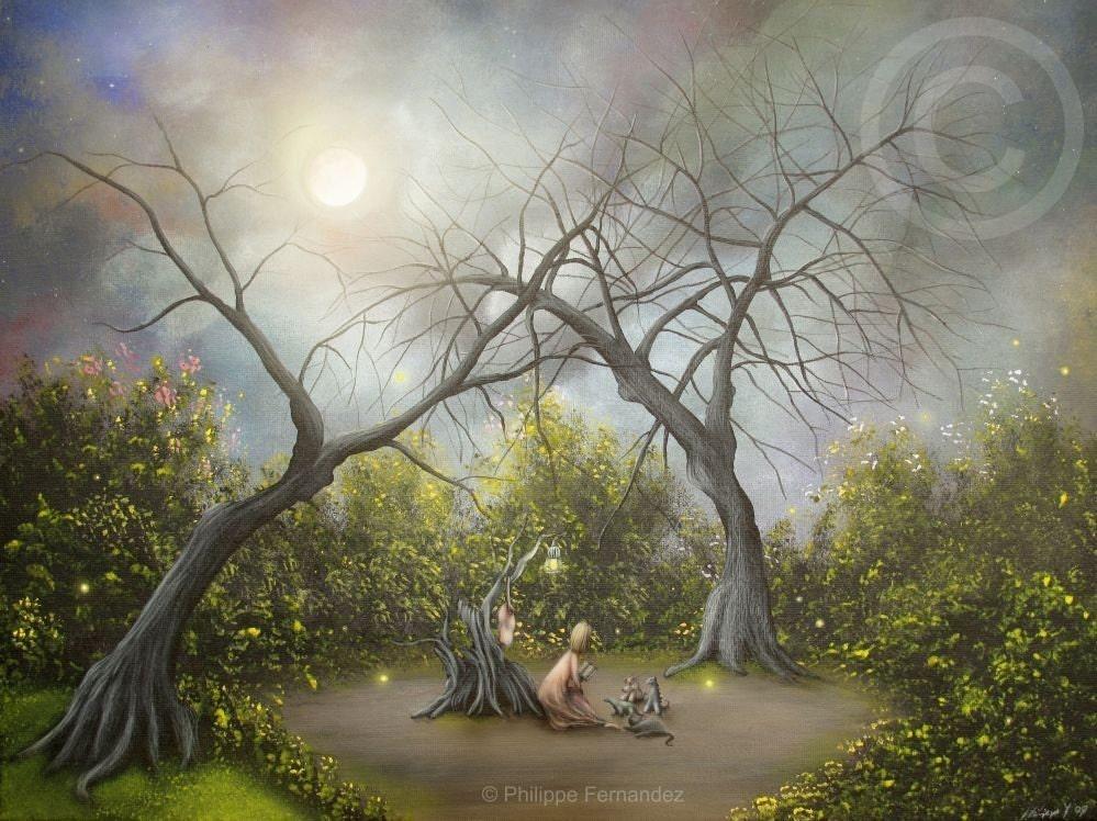 Story Telling. 8x10 Fairy Tale Art Print. By Philippe Fernandez