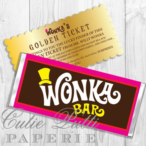 Free Willy Wonka Bar Printables | Party Invitations Ideas