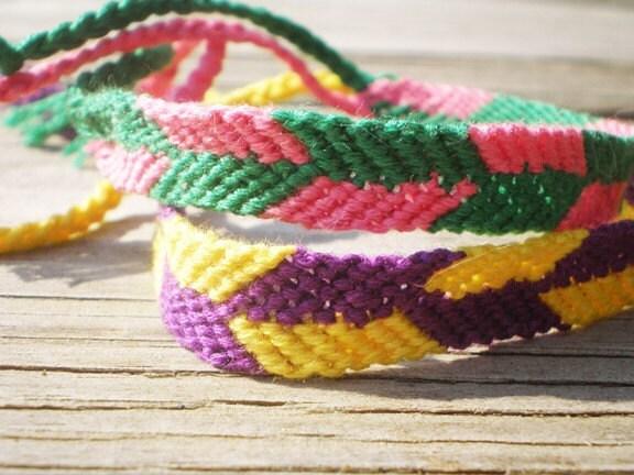 CUSTOM Macrame Friendship Bracelet- Dual Color Arrows
