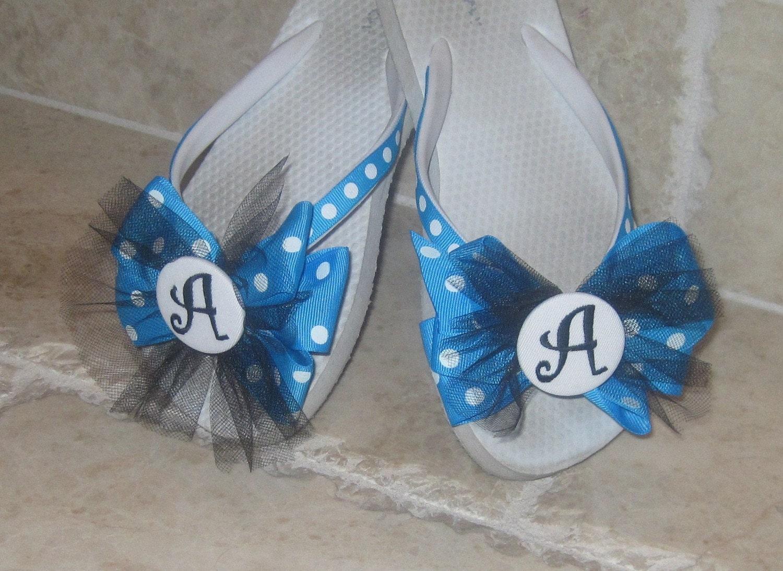 Tutu Toes-Polka Dots ribbon flip flops