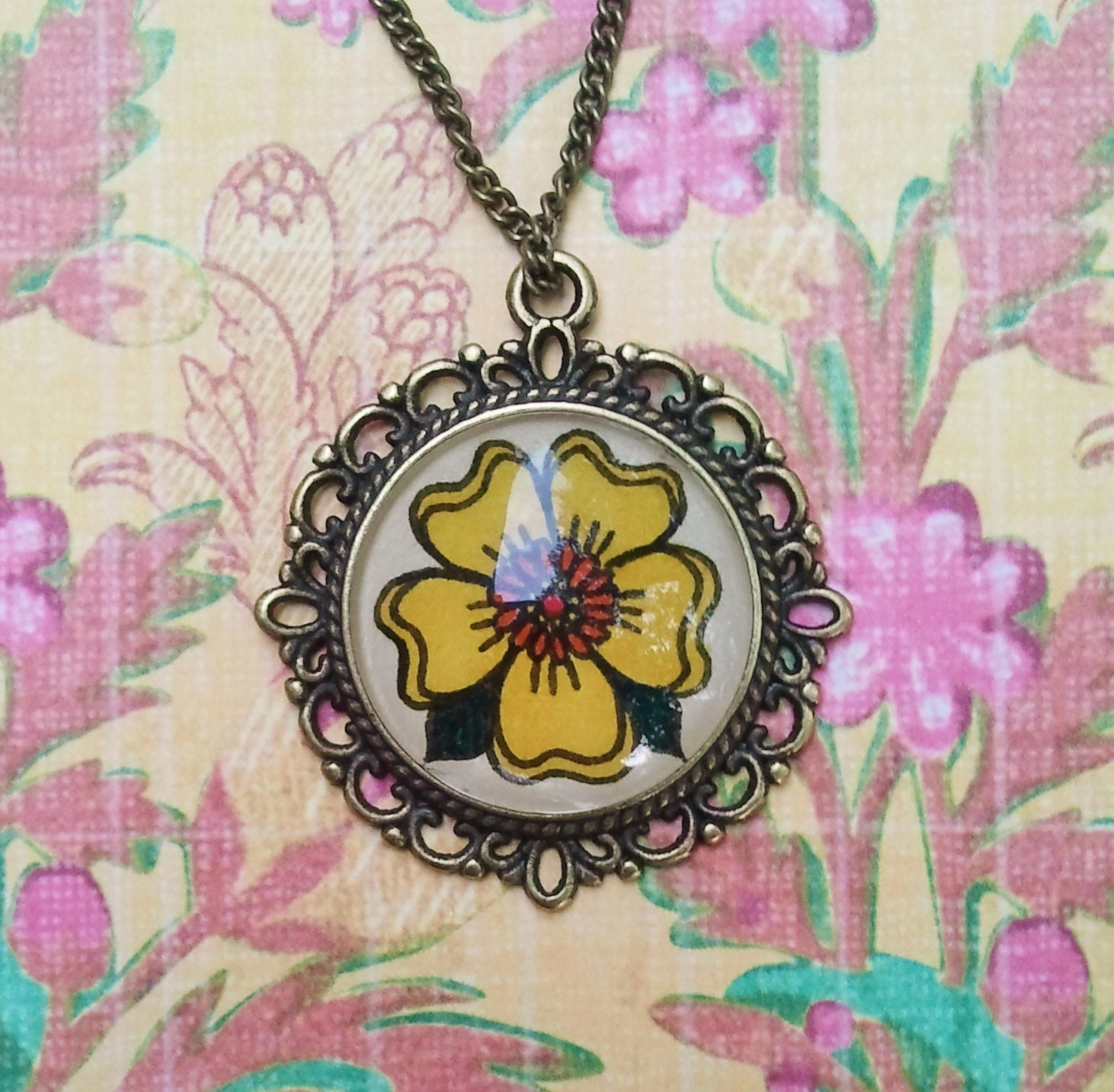 Cosmos Flower Necklace